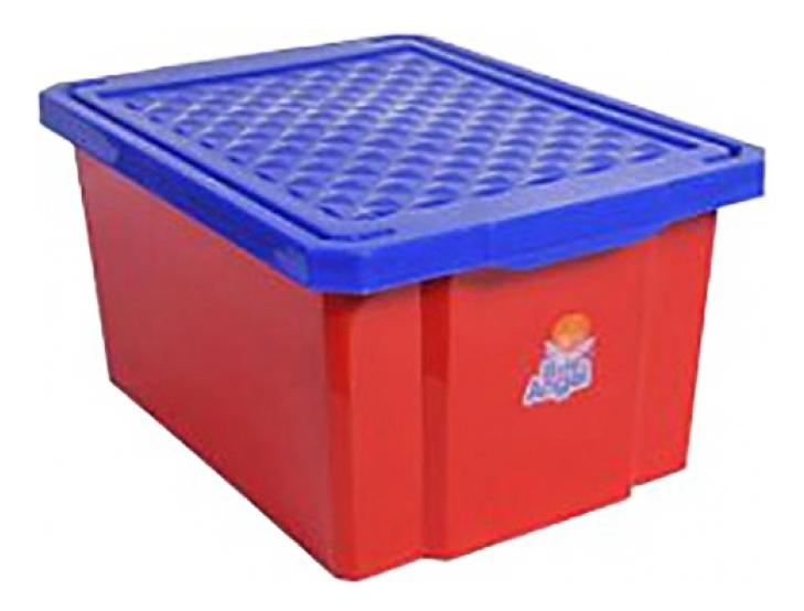 Ящик для хранения игрушек Plastic Republic 57 л красный