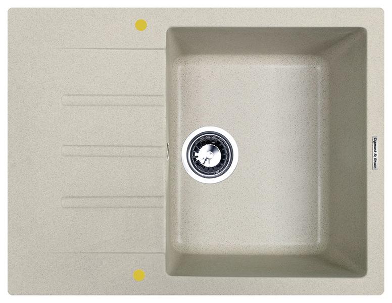 Мойка для кухни гранитная Zigmund #and# Shtain RECHTECK 645 речной песок