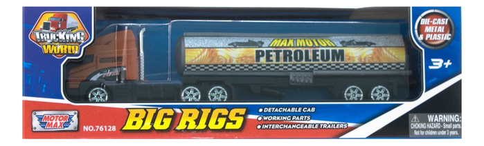 Коллекционная модель MotorMax Big Rigs с полуприцепом коричневый