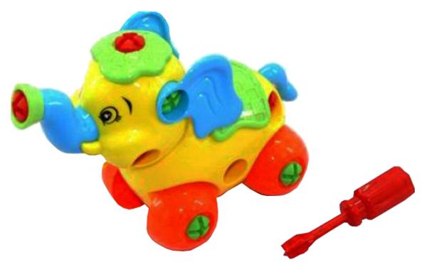 Купить Конструктор пластиковый Play Smart Собери сам Слоник 4 детали Г54525, PLAYSMART, Конструкторы пластмассовые