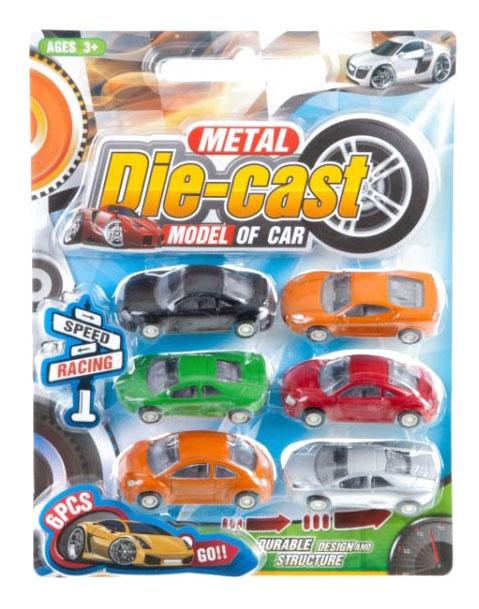 Набор игрушечных металлических машинок 6 шт. Gratwest А81678 фото