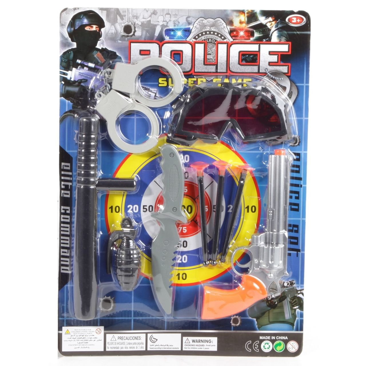 Купить Набор оружия police elite command Shenzhen toys К59482, Детские наборы полицейского