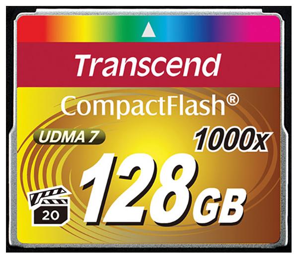 Карта памяти Transcend Compact Flash TS128GCF1000 128GB