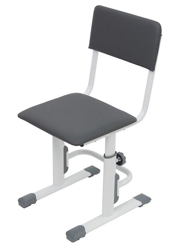 Детский стул для школьника регулируемый Polini Kids City/Polini Kids Smart S, Белый/Серый