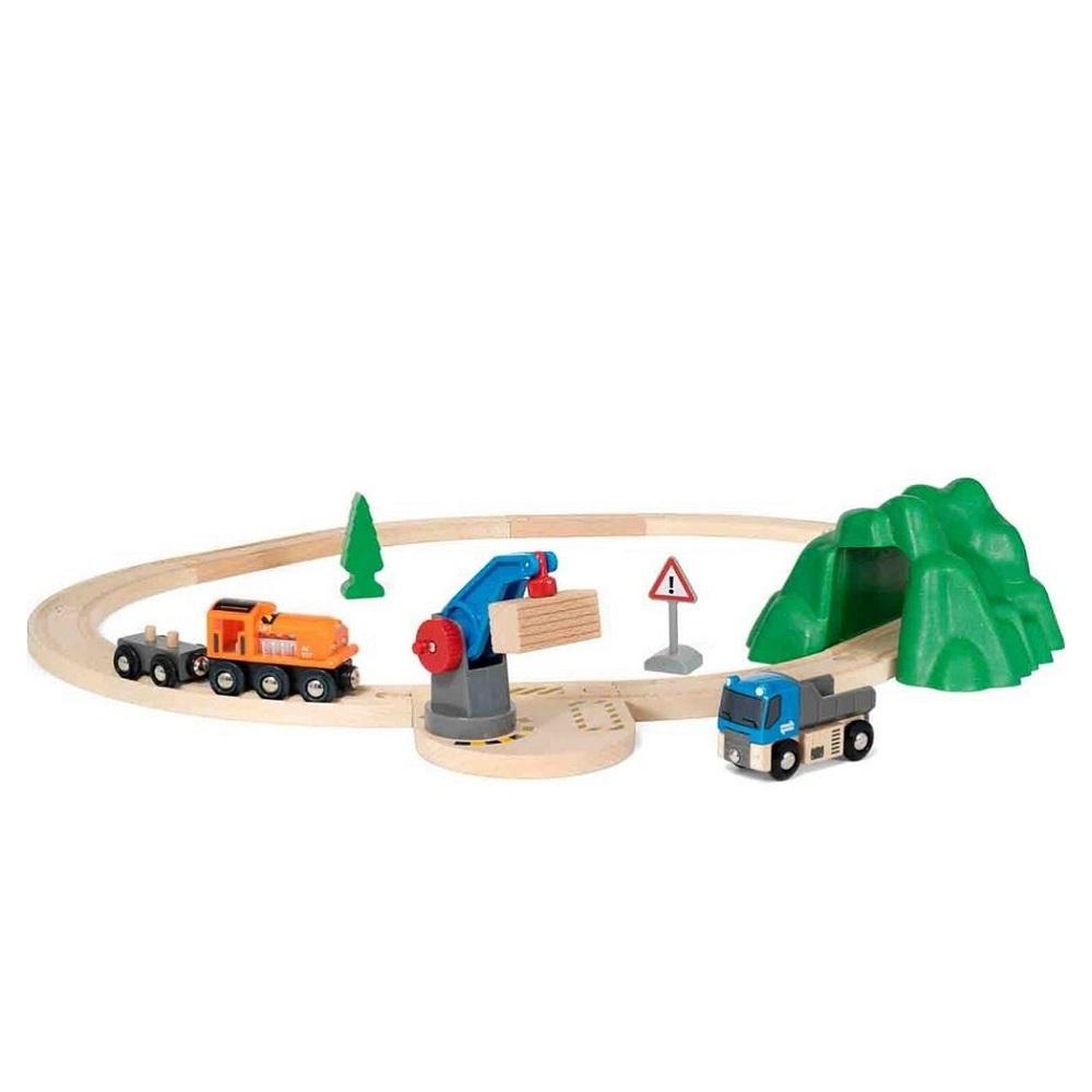 Купить Деревянная железная дорога Стартовый погрузо-разгрузочный Набор Brio часть А 33878, Детские железные дороги