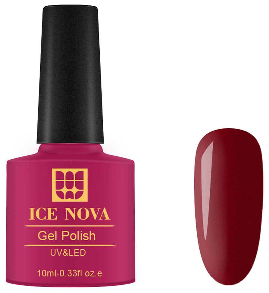 Купить Гель-лак для ногтей Ice Nova Gel Polish UV-LED 017 бордовый 10 мл