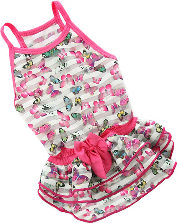 Платье для собак FOR MY DOGS Бабочки,