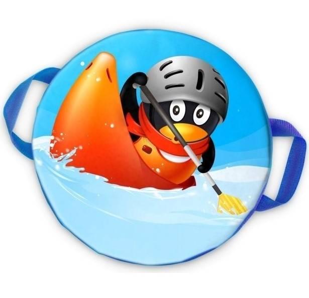 Ледянка Combosport мягкая круглая d40 см. Пингвин