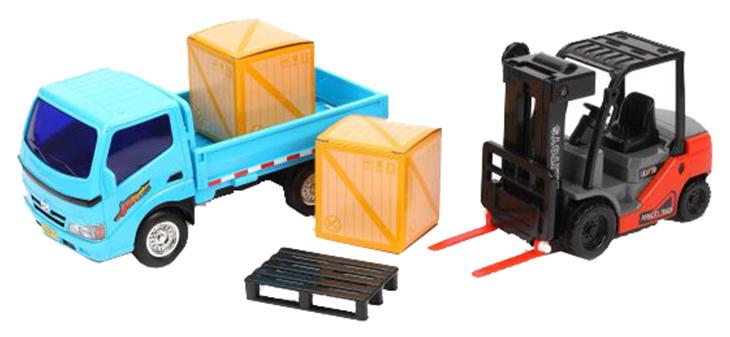 Набор техники Наша Игрушка грузовик и погрузчик