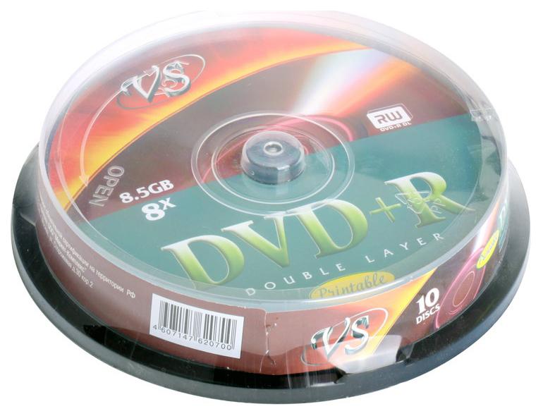 Диски DVD+R VS 8.5Gb 8х Double Layer