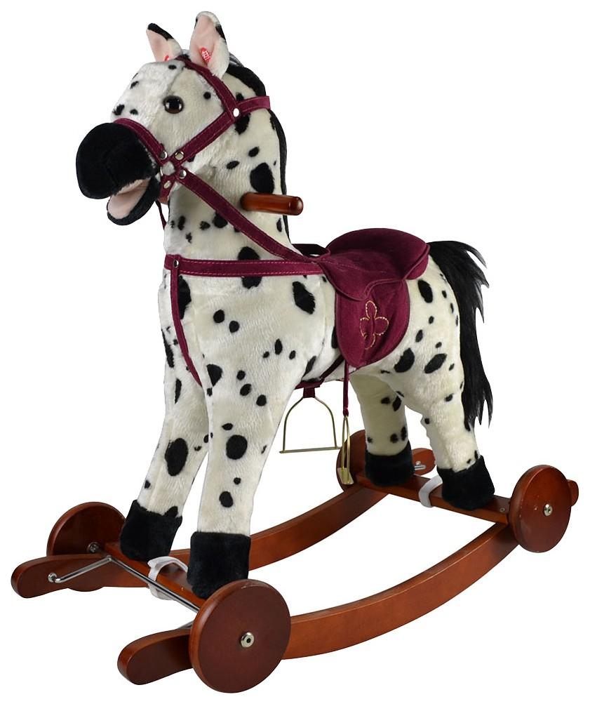 Купить Качалка-лошадка Pituso , белый с черными пятнами, Качалки детские
