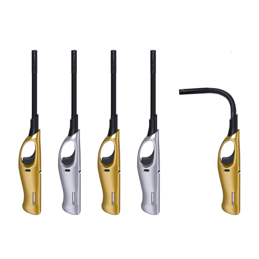 Зажигалка XHG 310 FT Silver/Gold с гибким носиком