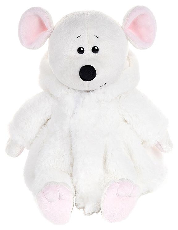 Купить Мягкая игрушка Maxitoys Luxury Мышка Мила в Белой Шубке, Игрушки с символом года