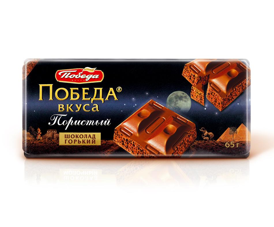 Пористый шоколад Победа Вкуса горький фото