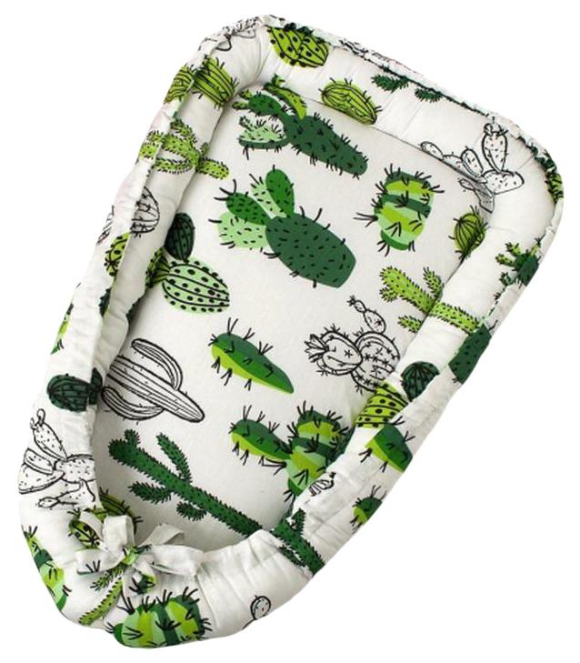 Купить Подушка-Позиционер WB для сна AmaroBaby кокон-гнездышко, LITTLE BABY Кактусы, Детские подушки