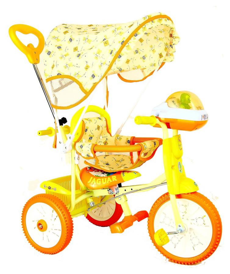 Купить Детский трехколесный велосипед Jaguar оранжевый, Детские велосипеды-коляски