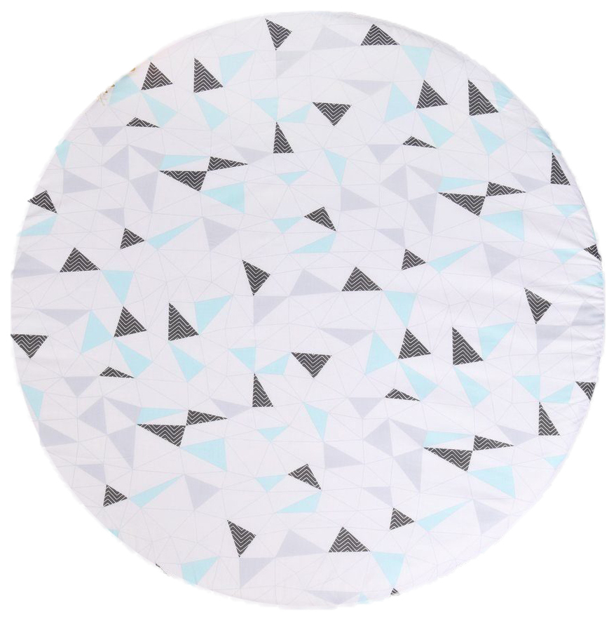 Простыня круглая на резинке AmaroBaby Exclusive Soft Collection Треугольники