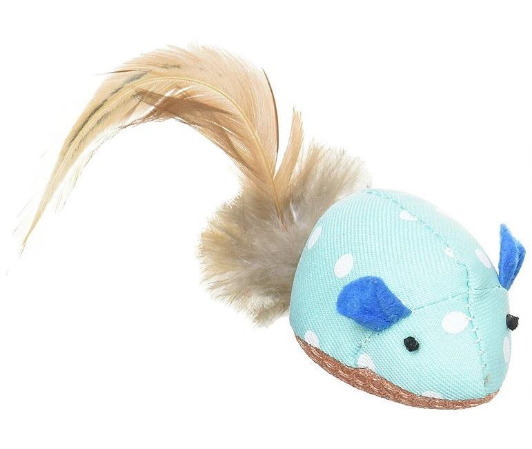 Игрушка Premium Pet Japan с кошачьей мятой уход за зубами в виде мышки для кошек Голубой