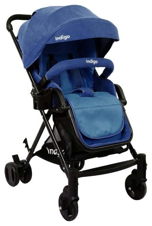Коляска прогулочная Indigo Alfa (цвет: синий)