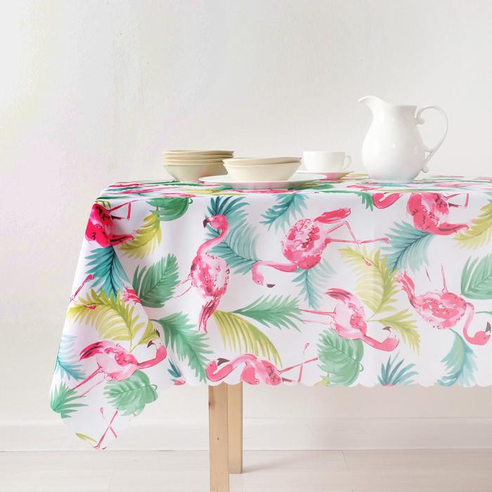 Скатерть Доляна Flamingo 140х180 см