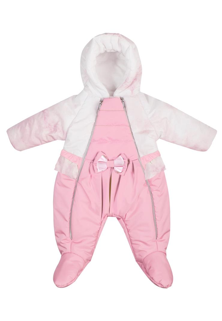 Комбинезон Сонный гномик БаблГам розовый, размер 68