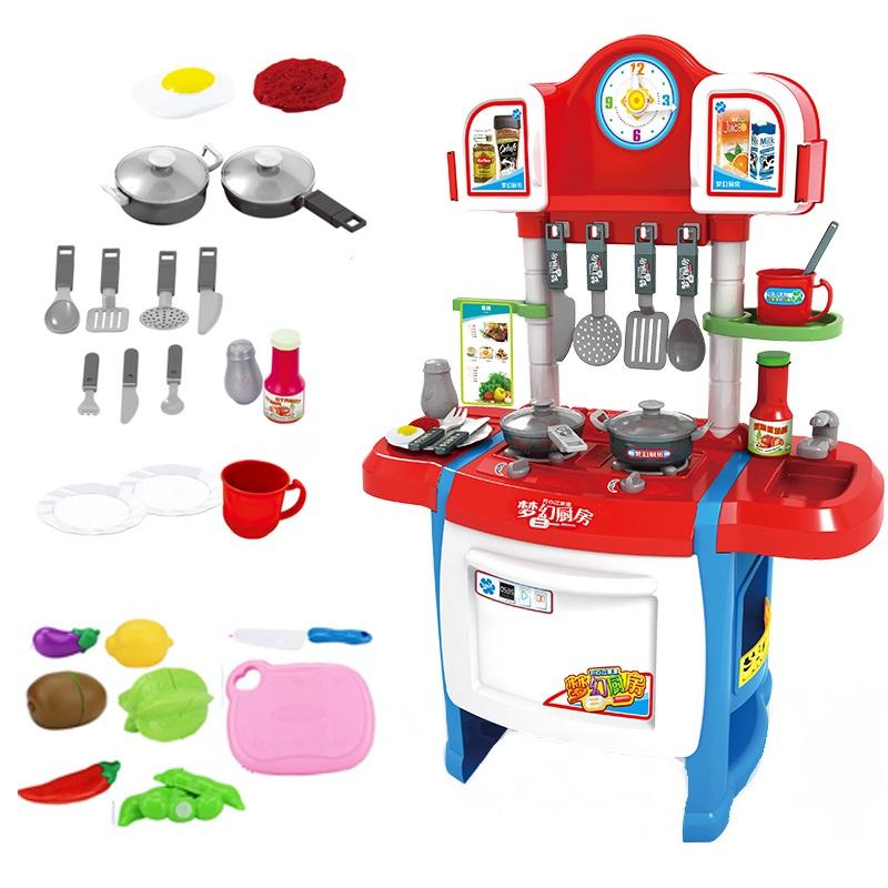 Купить Кухня детская игровая Kitchen WD-R19 вода, свет, звук, Детская кухня