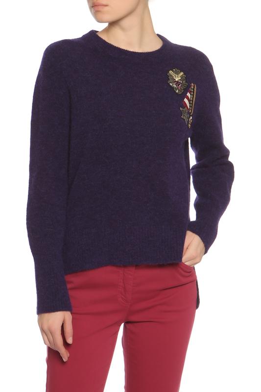 Пуловер женский Luisa Cerano 188328-5843-0865 фиолетовый 40 DE фото