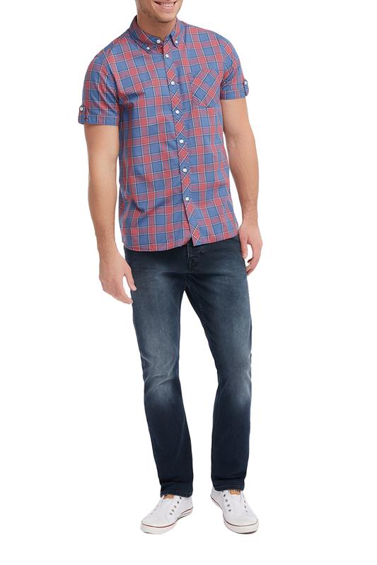 Рубашка мужская Mustang 1005768-11001 красная 3XL