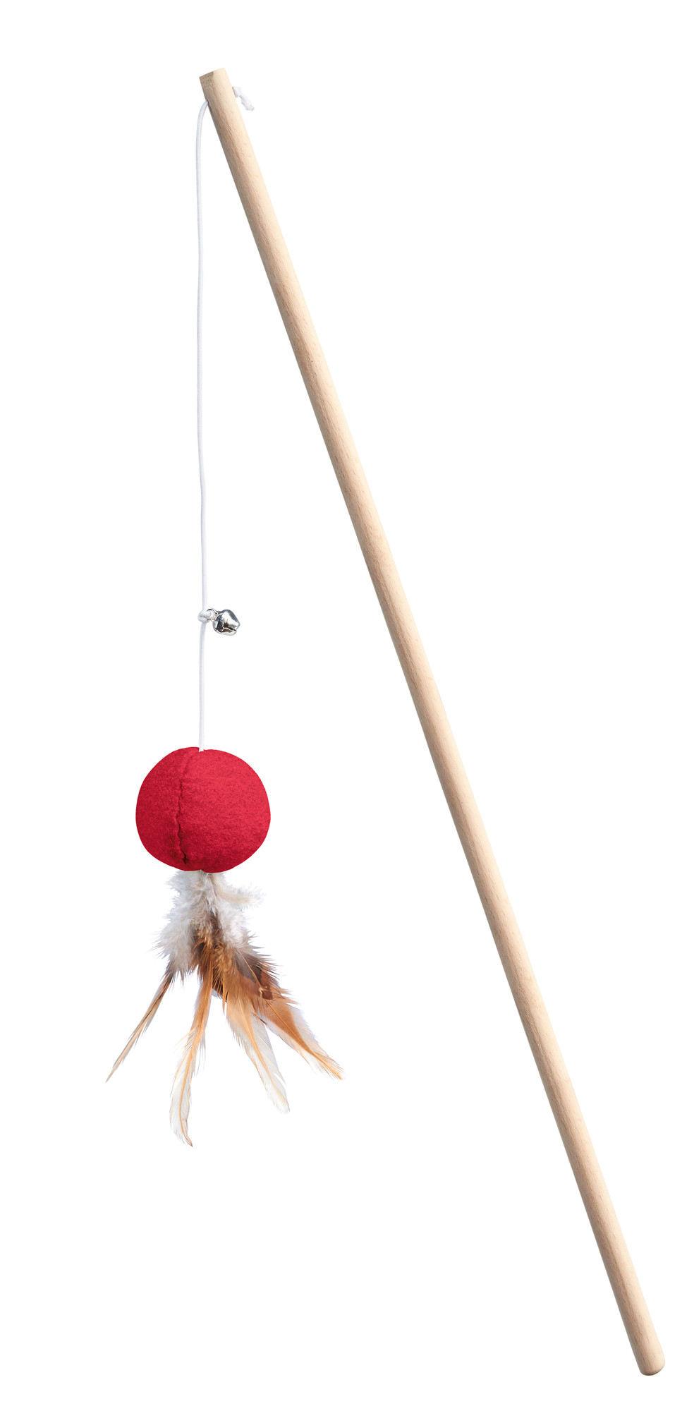 Игрушка для кошек HUNTER Дразнилка мячик, текстиль, красная/зеленая фото