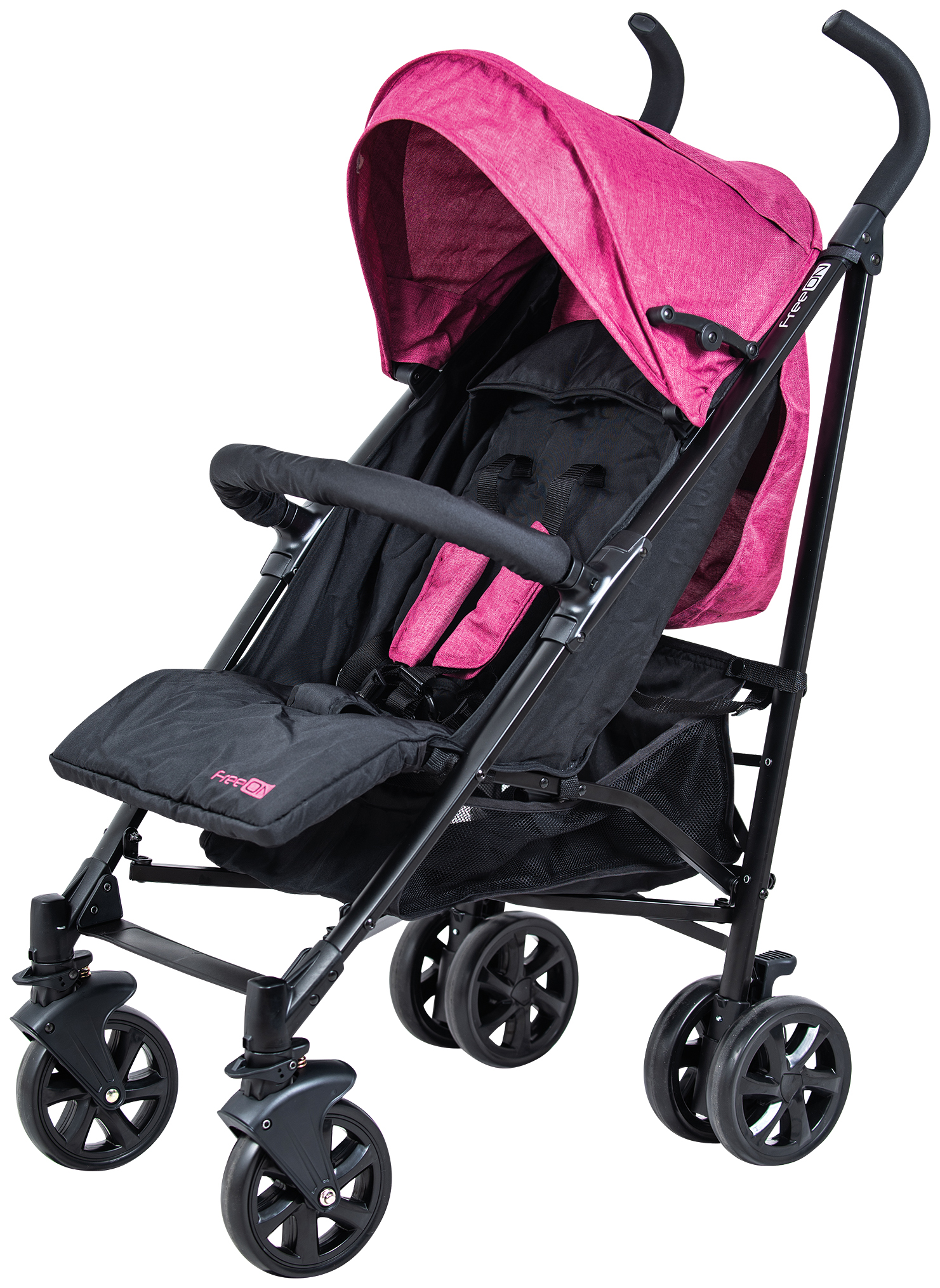 Коляска FreeOn Smart Sport розово чёрный