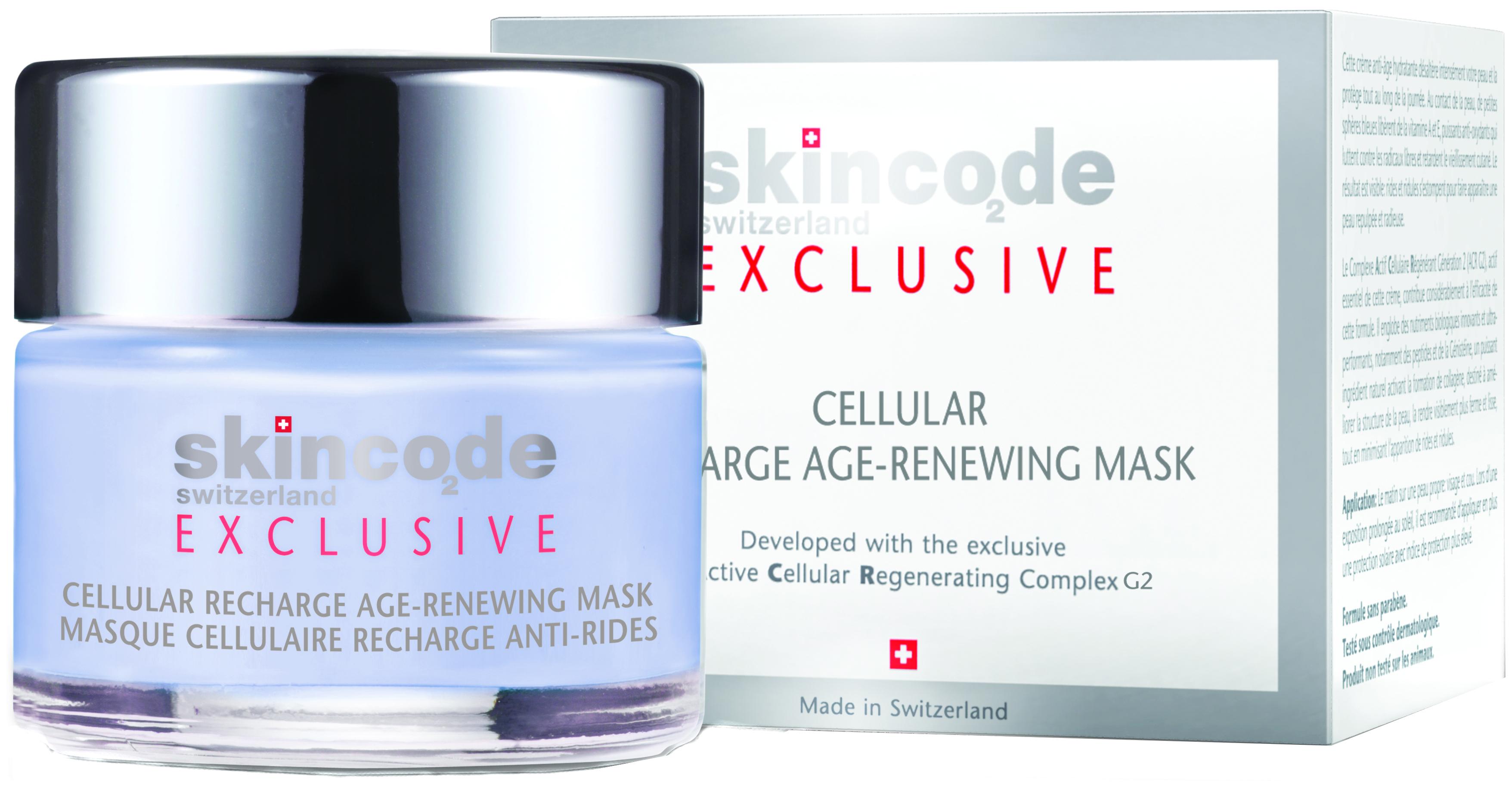 Купить Маска для лица Skincode Exclusive Cellular Recharge Age Renewing Mask 50 мл