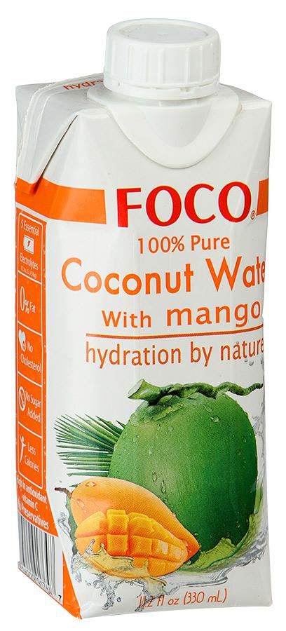 Вода кокосовая Foco натуральная с манго 0.33 л