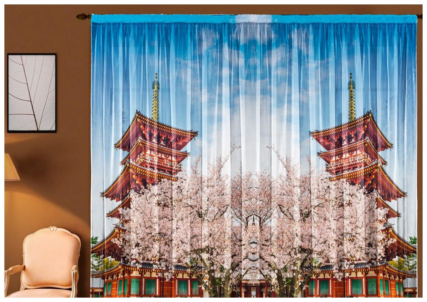 Японская штора Elegante Т0169 270x145 см