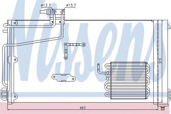 Радиатор кондиционера Nissens 94545