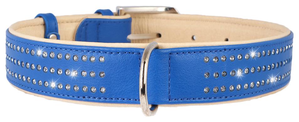 Ошейник для собак CoLLaR brilliance со стразами премиум класса 46-60см синий 380312