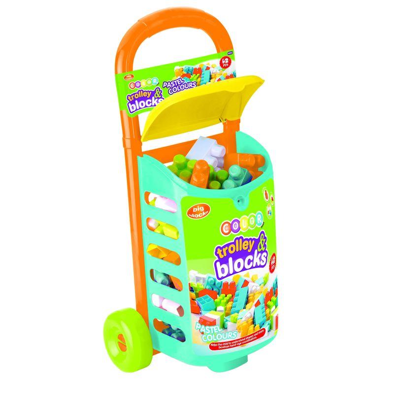Купить Закрытая тележка с 42 деталями конструктора Dolu DL_5052, Детские тележки для супермаркета