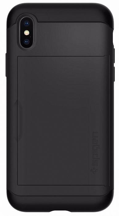 Чехол Spigen Slim Armor CS (057CS22155) для Apple iPhone X (Black)