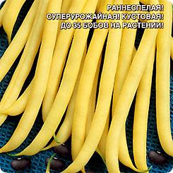 Семена Фасоль спаржевая Черный бриллиант, 10 шт, Уральский дачник