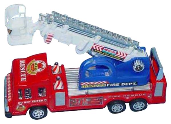 Инерционная игрушка Zhorya Пожарная машина с подъемником фото