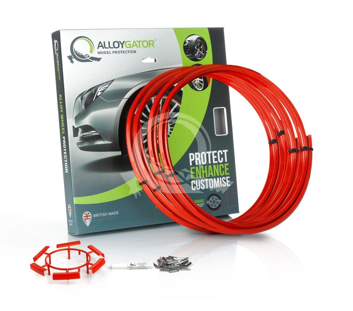 Защитные кольца на диски AlloyGator R13-21 красные фото