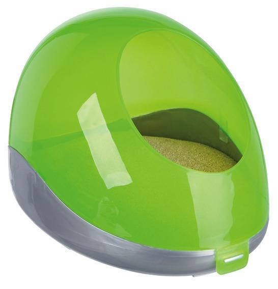 Купалка для грызунов TRIXIE пластик, 18 х 27 х 16 см, цвет зеленый, серый
