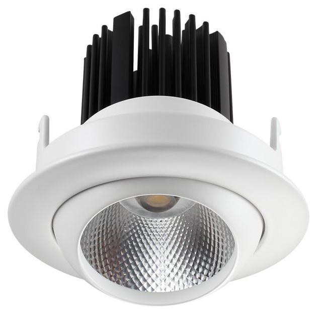 Встраиваемый светодиодный светильник Novotech Drum 357695 Белый 110 мм