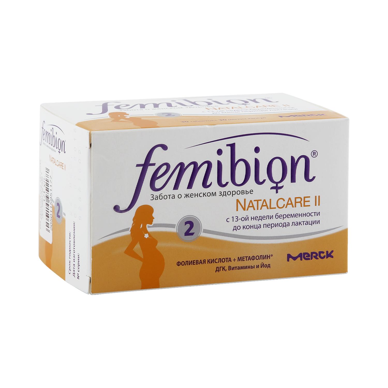 Фемибион Наталкер II Merck KGaA набор таблеток и капсул 60 шт.