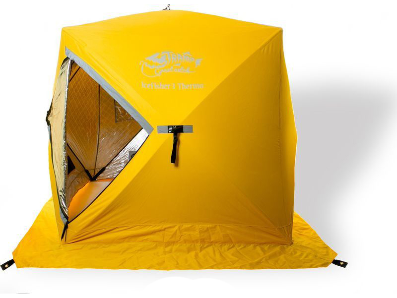 Палатка Tramp IceFisher Thermo трехместная желтая