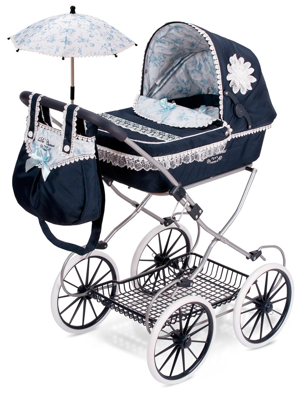 Купить Коляска для кукол DeCuevas с сумкой и зонтиком Романтик 81 см, Коляски для кукол