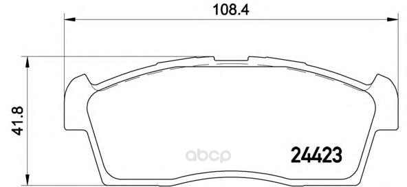 Тормозные колодки дисковые brembo P54049