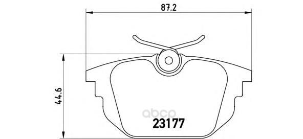 Тормозные колодки дисковые brembo P23026