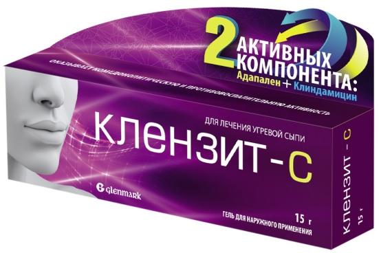 Клензит С гель 15 г Glenmark Pharmaceuticals