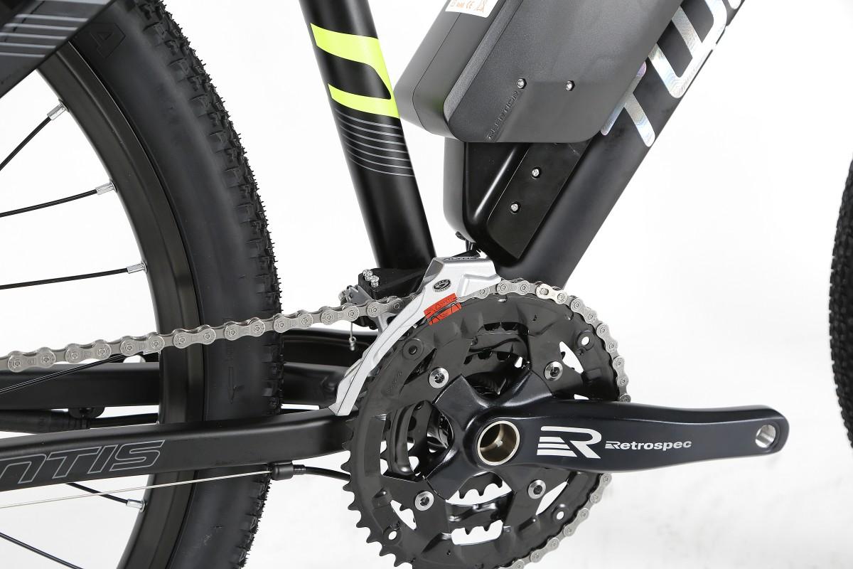 Электровелосипед Twitter Mantis-E0-17 черно-серый