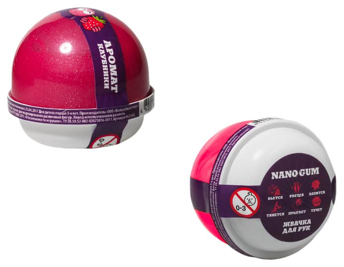 Жвачка для рук  Фабрика игрушек Nano gum Аромат клубники 25 г